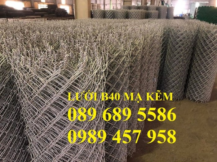 Lưới thép B40 bọc nhựa cho sân tennis, b40 bọc nhựa sân bóng đá mini, sân quần vợt3