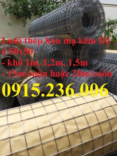 Lưới thép hàn mạ kẽm, lưới thép hàn phi 3 ô 50x50mm sẵn kho tại Hưng Yên3