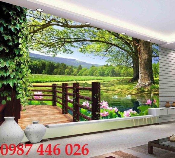 Gạch tranh phong cảnh thiên nhiên đẹp HP000410