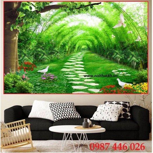 Gạch tranh phong cảnh thiên nhiên đẹp HP00043