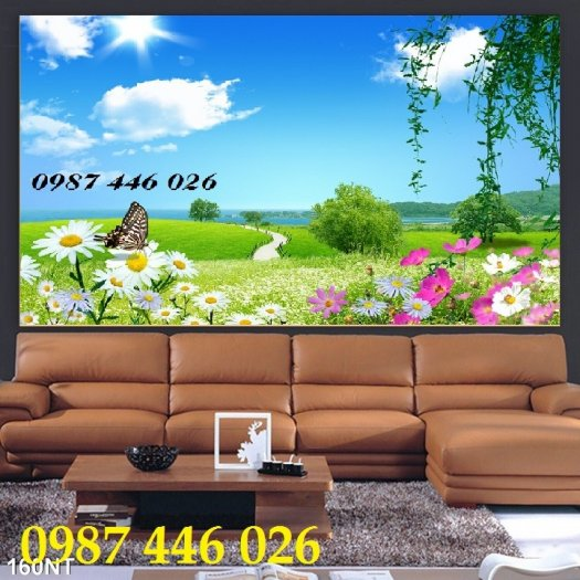 Gạch tranh phong cảnh thiên nhiên đẹp HP00041