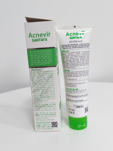 Sữa rửa mặt chuyên da mụn ACNEVIR - Làm sạch da từ sâu bên trong, ngăn ngừa mụn - Tuýp 100gr3