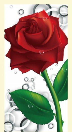 Tranh hoa hồng tranh gạch 3d hoa hồng - QNV335