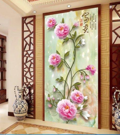 Tranh hoa hồng tranh gạch 3d hoa hồng - QNV334