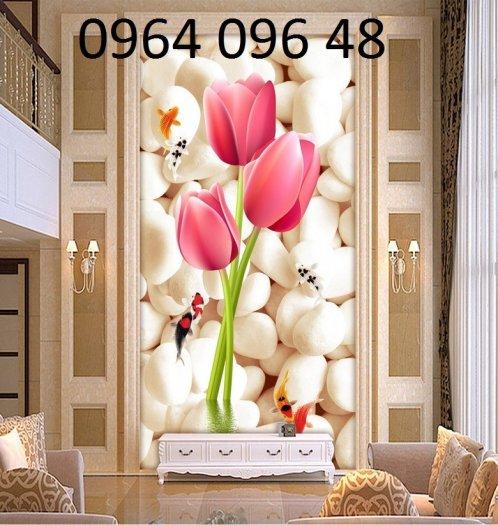 Tranh hoa hồng tranh gạch 3d hoa hồng - QNV333