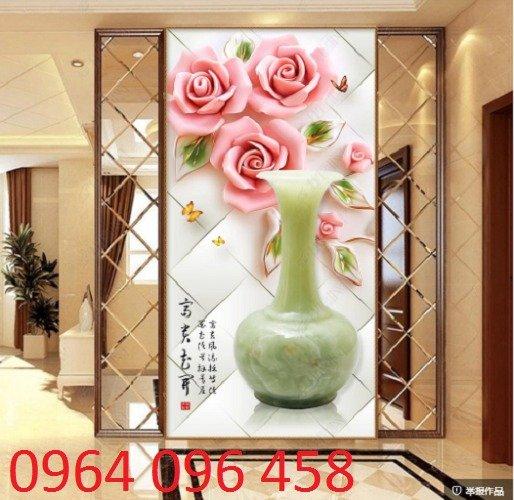 Tranh hoa hồng tranh gạch 3d hoa hồng - QNV330