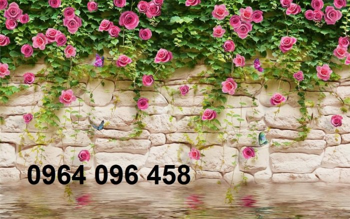 Gạch tranh 3d hoa hồng leo - XX119