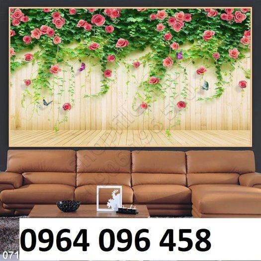 Gạch tranh 3d hoa hồng leo - XX115