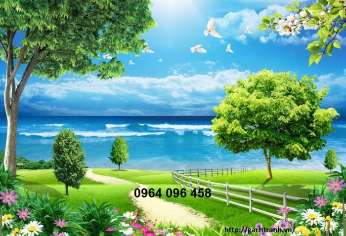 Gạch tranh 3d phong cảnh thiên nhiên - SX119