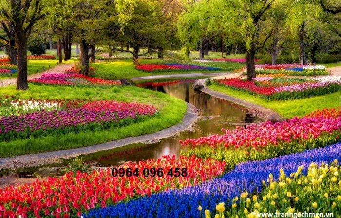 Gạch tranh 3d phong cảnh thiên nhiên - SX115