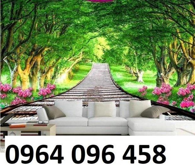 Gạch tranh 3d ốp tường phong cảnh rừng cây đẹp - VC4411