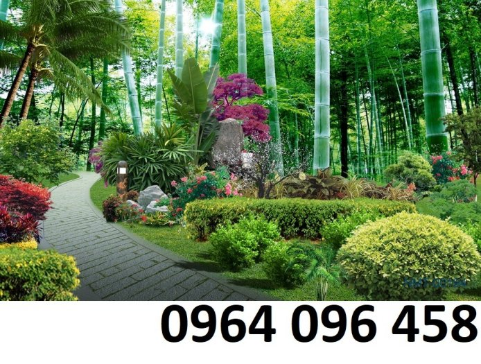 Gạch tranh 3d ốp tường phong cảnh rừng cây đẹp - VC446