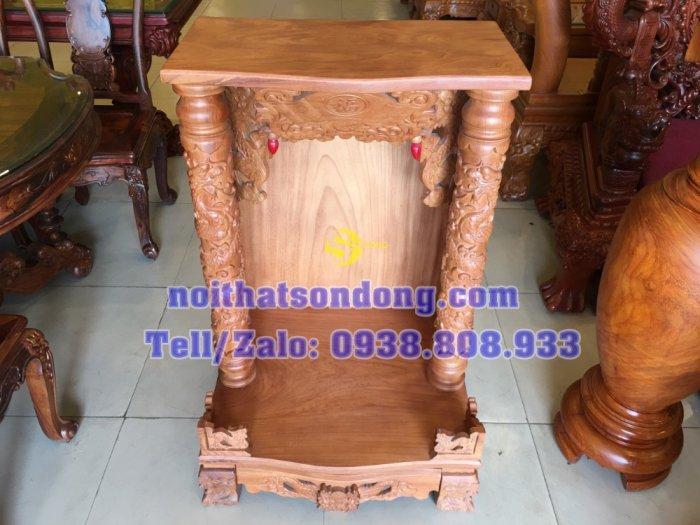 Bàn thờ ông địa gõ đỏ mái bằng 70cm – SD1051