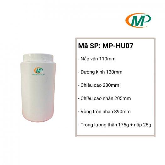 Hũ nhựa đựng hạt, Hũ nhựa ngũ cốc, hũ nhựa HDPE 1Kg7
