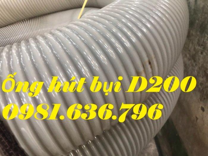 Giá ống hút bụi gân nhựa PVC phi 150mm2