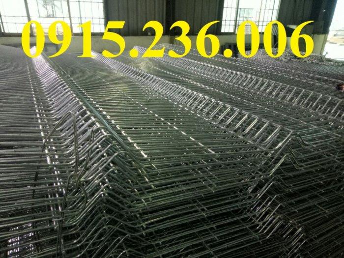 Hàng rào chấn sóng, hàng rào mạ kẽm chấn sóng phi 5 ô 50x150, 50x200 giá tốt3