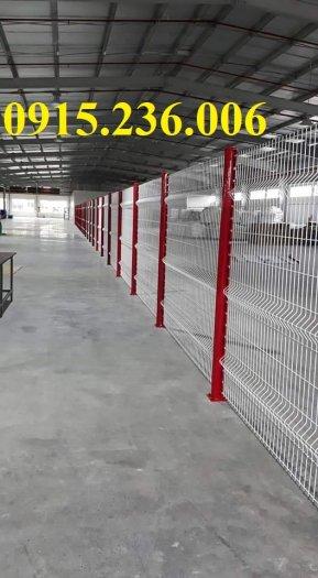 Hàng rào chấn sóng, hàng rào mạ kẽm chấn sóng phi 5 ô 50x150, 50x200 giá tốt2