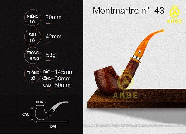 Tẩu gỗ Chacom Montmartre No431
