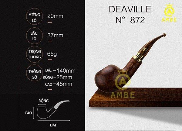 Tẩu gỗ Chacom Deauville No8725