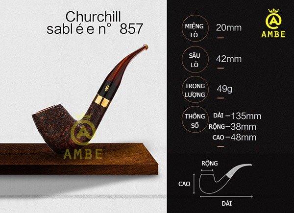 Tẩu gỗ Chacom Churchill Sablee N8576