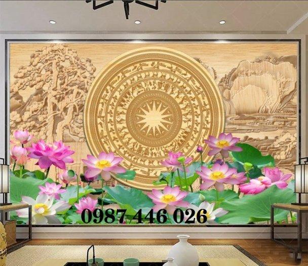 Tranh gạch men hoa sen HP905410