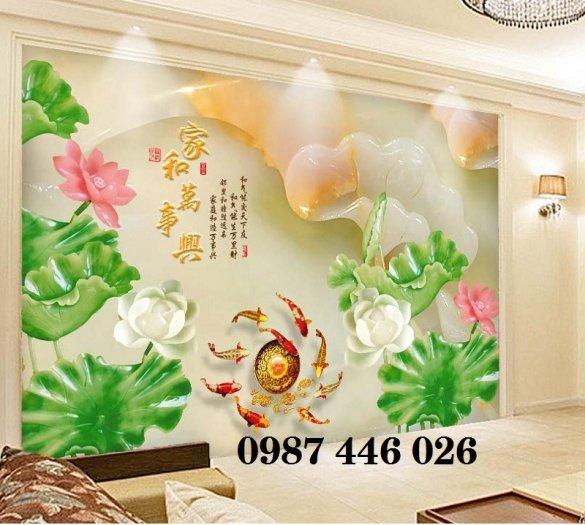 Tranh gạch men hoa sen HP90541