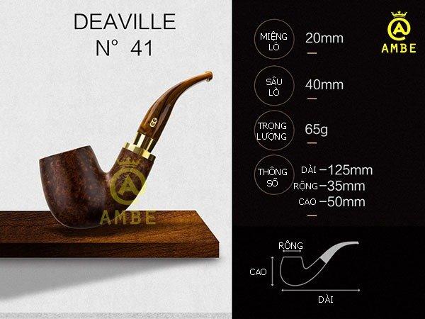 Tẩu gỗ Deauville Chacom No414