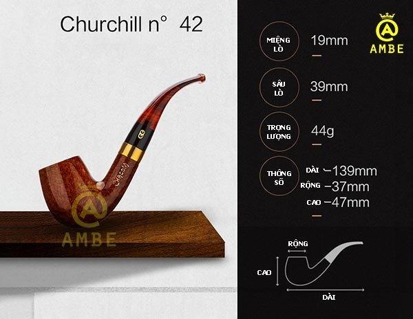 Tẩu gỗ Churchill Unie Chacom No422