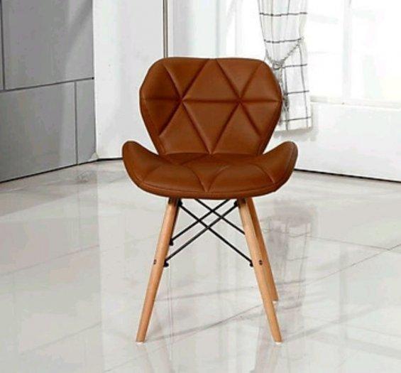 Ghế da tam giác màu cafe giá rẻ1
