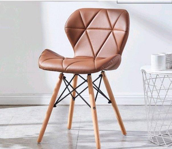 Ghế da tam giác màu cafe giá rẻ2