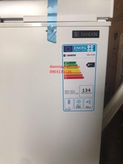 Tủ Đông Inverter Sanden Intercool SNH-0105i 100 Lít Dàn Đồng0