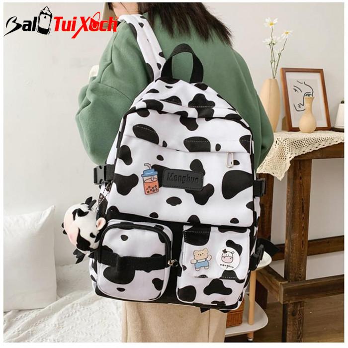 Balo bò sữa - cặp sách bò sữa - BLTX08 - Ảnh: 3