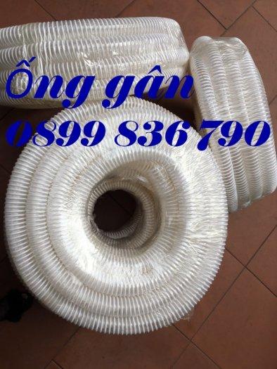 Ống gân nhựa cổ trâu trắng xanh hút hạt, hút vỏ trấu phi 100.4