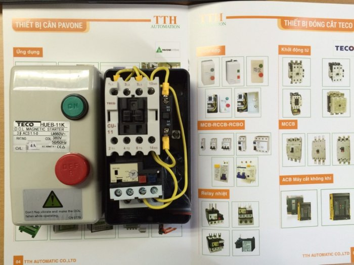 HUEB-11 Khởi động từ hộp TECO - Giá đại lý2