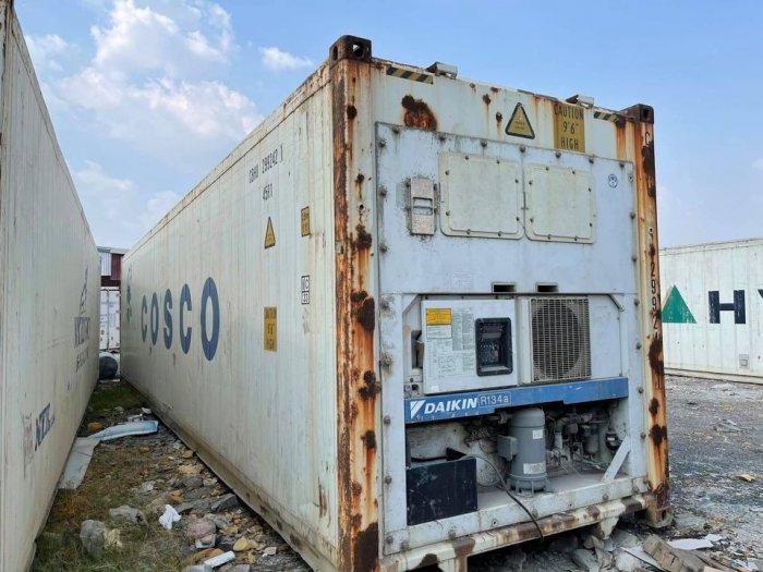 Container lạnh bảo quản thịt heo hàng cấp đông3