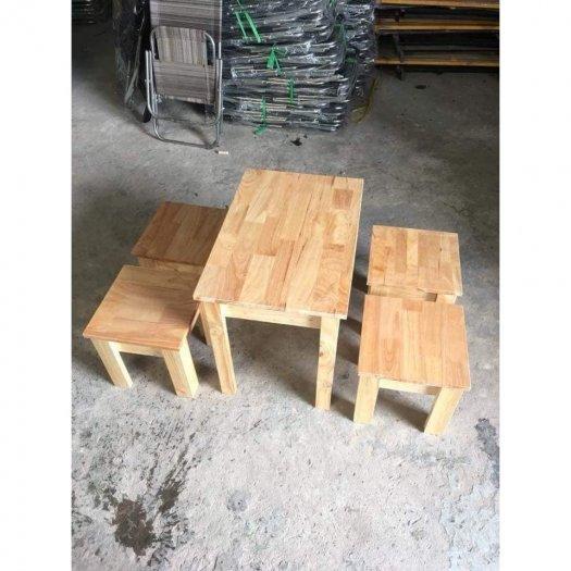 Bàn ghế cafe gỗ mini giá sỉ tại xưởng sản xuất anh khoa 23440