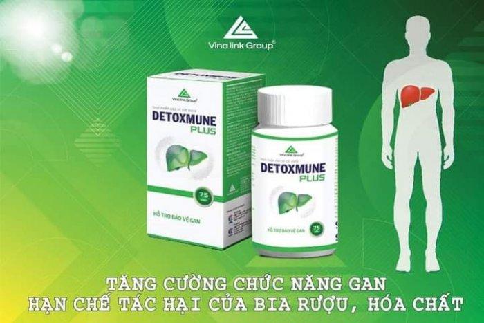Detoxmune giúp cải thiện chức năng gan, đào thải độc tố giúp tăng cường sức khỏe1
