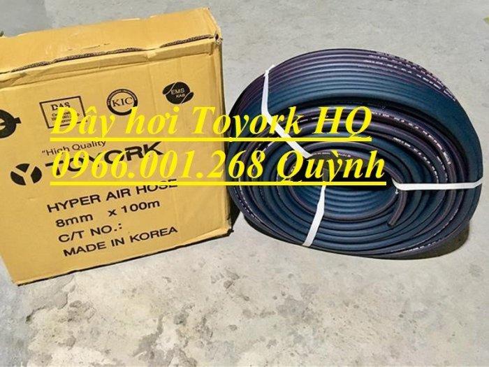 Phân phối dây hơi Toyork phi 8mm , cuộn dài 100m , dây hơi Hàn Quốc chịu áp lực cao0