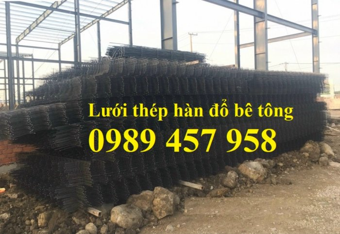 Sản xuất lưới thép đổ sàn tại Hà Nội, Lưới thép hàn chập phi 4, phi 5, phi 6, phi 84