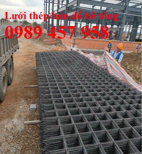 Sản xuất lưới thép đổ sàn tại Hà Nội, Lưới thép hàn chập phi 4, phi 5, phi 6, phi 82