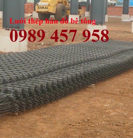 Sản xuất lưới thép đổ sàn tại Hà Nội, Lưới thép hàn chập phi 4, phi 5, phi 6, phi 81