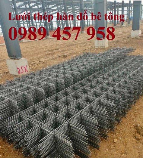 Sản xuất lưới thép đổ sàn tại Hà Nội, Lưới thép hàn chập phi 4, phi 5, phi 6, phi 80