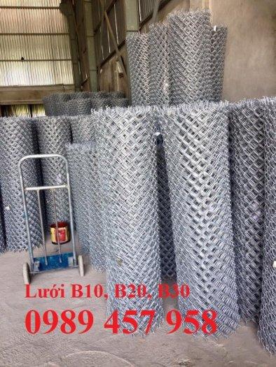 Sản xuất lưới thép B30 làm hàng rào 30x30, Lưới B30 bọc nhựa 1m85