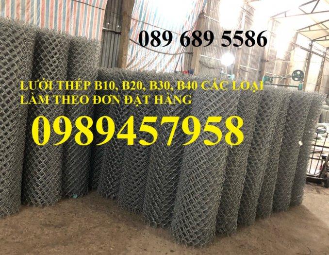 Sản xuất lưới thép B30 làm hàng rào 30x30, Lưới B30 bọc nhựa 1m80