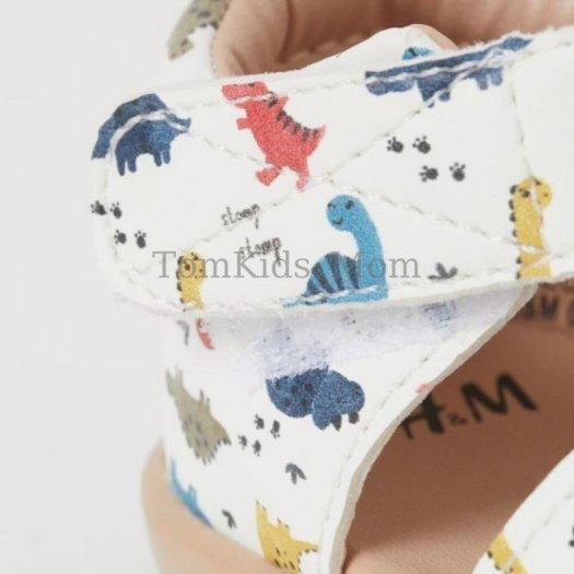 Dép Sandal rọ HM dư xịn, giày rọ họa tiết khủng long cho bé trai/bé gái cực đẹp, chất đi mềm mại, thoáng mát4