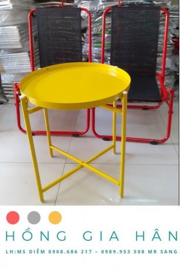 Bộ bàn ghế xấp gọn Hồng Gia Hân BGS230