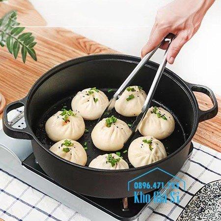 Bán nồi gang đen đúc nguyên khối nấu lẩu cho nhà hàng kiểu Nhật - Nồi gang đen nắp đậy bằng gỗ nấu cơm cháy truyền thống37