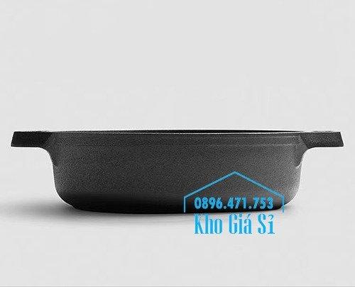 Bán nồi gang đen đúc nguyên khối nấu lẩu cho nhà hàng kiểu Nhật - Nồi gang đen nắp đậy bằng gỗ nấu cơm cháy truyền thống36
