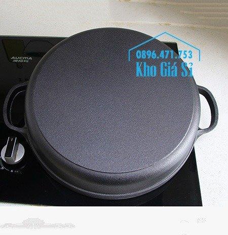 Bán nồi gang đen đúc nguyên khối nấu lẩu cho nhà hàng kiểu Nhật - Nồi gang đen nắp đậy bằng gỗ nấu cơm cháy truyền thống34