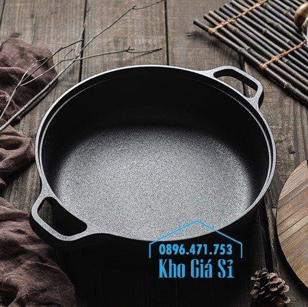 Bán nồi gang đen đúc nguyên khối nấu lẩu cho nhà hàng kiểu Nhật - Nồi gang đen nắp đậy bằng gỗ nấu cơm cháy truyền thống25